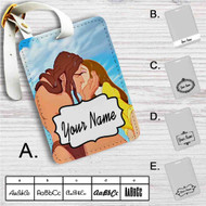 Disney Tarzan and Jane Kiss Custom Leather Luggage Tag