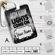 Jason Aldean Lights Come On Custom Leather Luggage Tag
