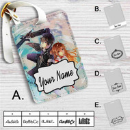 Kirito and Asuna Sword Art Online Custom Leather Luggage Tag