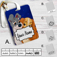 Lady and the Tramp Love Disney Custom Leather Luggage Tag