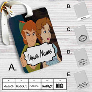 Peter Pan and Wendy Angry Custom Leather Luggage Tag