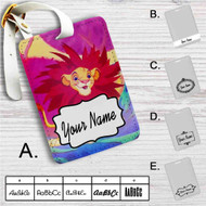 Simba The Lion King Custom Leather Luggage Tag