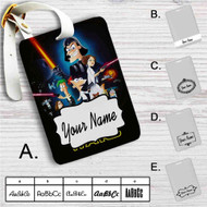 This Phineas and Ferb Star Wars Custom Leather Luggage Tag