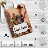 Toy Story Woody and Buzz Disney Custom Leather Luggage Tag