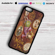 Alice Through the Looking Glass A Matter of Time on your case iphone 4 4s 5 5s 5c 6 6plus 7 Samsung Galaxy s3 s4 s5 s6 s7 HTC Case