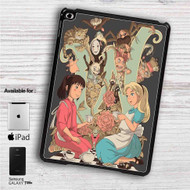 "Alice in Wonderland and Spirited Away iPad 2 3 4 iPad Mini 1 2 3 4 iPad Air 1 2 | Samsung Galaxy Tab 10.1"" Tab 2 7"" Tab 3 7"" Tab 3 8"" Tab 4 7"" Case"
