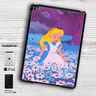 """Alice in Wonderland With Flowers iPad 2 3 4 iPad Mini 1 2 3 4 iPad Air 1 2   Samsung Galaxy Tab 10.1"""" Tab 2 7"""" Tab 3 7"""" Tab 3 8"""" Tab 4 7"""" Case"""