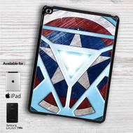 "Captain America Shield Iron Man Arc Reactor iPad 2 3 4 iPad Mini 1 2 3 4 iPad Air 1 2 | Samsung Galaxy Tab 10.1"" Tab 2 7"" Tab 3 7"" Tab 3 8"" Tab 4 7"" Case"