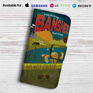 Banshee Custom Leather Wallet iPhone 4/4S 5S/C 6/6S Plus 7  Samsung Galaxy S4 S5 S6 S7 Note 3 4 5  LG G2 G3 G4  Motorola Moto X X2 Nexus 6  Sony Z3 Z4 Mini  HTC ONE X M7 M8 M9 Case