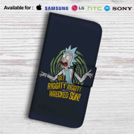 Get Riggity Rick and Morty Custom Leather Wallet iPhone 4/4S 5S/C 6/6S Plus 7  Samsung Galaxy S4 S5 S6 S7 Note 3 4 5  LG G2 G3 G4  Motorola Moto X X2 Nexus 6  Sony Z3 Z4 Mini  HTC ONE X M7 M8 M9 Case
