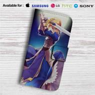 King Arthur Fate Stay Night Custom Leather Wallet iPhone 4/4S 5S/C 6/6S Plus 7| Samsung Galaxy S4 S5 S6 S7 Note 3 4 5| LG G2 G3 G4| Motorola Moto X X2 Nexus 6| Sony Z3 Z4 Mini| HTC ONE X M7 M8 M9 Case