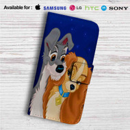 Lady and the Tramp Love Disney Custom Leather Wallet iPhone 4/4S 5S/C 6/6S Plus 7| Samsung Galaxy S4 S5 S6 S7 Note 3 4 5| LG G2 G3 G4| Motorola Moto X X2 Nexus 6| Sony Z3 Z4 Mini| HTC ONE X M7 M8 M9 Case