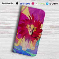 Simba The Lion King Custom Leather Wallet iPhone 4/4S 5S/C 6/6S Plus 7| Samsung Galaxy S4 S5 S6 S7 Note 3 4 5| LG G2 G3 G4| Motorola Moto X X2 Nexus 6| Sony Z3 Z4 Mini| HTC ONE X M7 M8 M9 Case