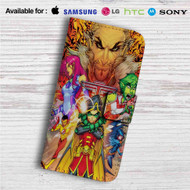 Teen Titans Characters Custom Leather Wallet iPhone 4/4S 5S/C 6/6S Plus 7| Samsung Galaxy S4 S5 S6 S7 Note 3 4 5| LG G2 G3 G4| Motorola Moto X X2 Nexus 6| Sony Z3 Z4 Mini| HTC ONE X M7 M8 M9 Case
