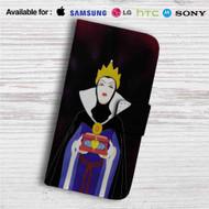 The Evil Queen Disney Snow White Custom Leather Wallet iPhone 4/4S 5S/C 6/6S Plus 7| Samsung Galaxy S4 S5 S6 S7 Note 3 4 5| LG G2 G3 G4| Motorola Moto X X2 Nexus 6| Sony Z3 Z4 Mini| HTC ONE X M7 M8 M9 Case