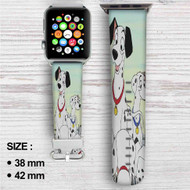101 Dalmatians Disney Custom Apple Watch Band Leather Strap Wrist Band Replacement 38mm 42mm