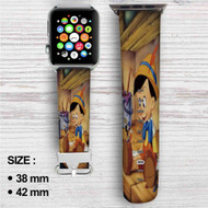 Disney Pinocchio Custom Apple Watch Band Leather Strap Wrist Band Replacement 38mm 42mm