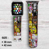 Five Nights at Freddys Custom Apple Watch Band Leather Strap Wrist Band Replacement 38mm 42mm