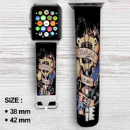 Kingdom Hearts Key Custom Apple Watch Band Leather Strap Wrist Band Replacement 38mm 42mm