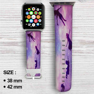 Peter Pan Flying Custom Apple Watch Band Leather Strap Wrist Band Replacement 38mm 42mm