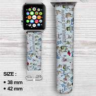 Regular Show Custom Apple Watch Band Leather Strap Wrist Band Replacement 38mm 42mm