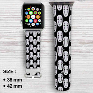 Spirited Away No Face Custom Apple Watch Band Leather Strap Wrist Band Replacement 38mm 42mm