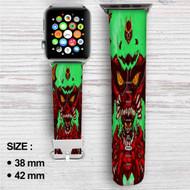 Tengen Toppa Gurren Lagann Custom Apple Watch Band Leather Strap Wrist Band Replacement 38mm 42mm