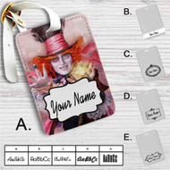 Alice in Wonderland Through the Looking Glass Custom Leather Luggage Tag