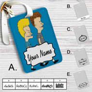 Beavis and Butt-head Custom Leather Luggage Tag