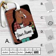 Bojack Horseman Custom Leather Luggage Tag