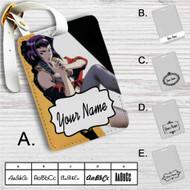 Cowboy Bebop Faye Valentine Custom Leather Luggage Tag