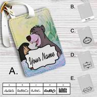 Disney Mowgli and Ballo The Jungle Book Custom Leather Luggage Tag