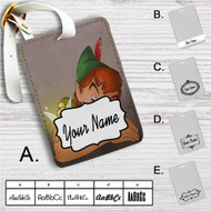 Disney Peter Pan and Tinkerbell Custom Leather Luggage Tag