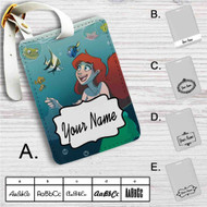 Finding Dory Ariel The Little Mermaid Custom Leather Luggage Tag