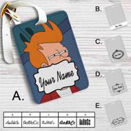 Fry Futurama Custom Leather Luggage Tag