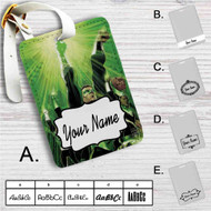 Green Lantern Custom Leather Luggage Tag