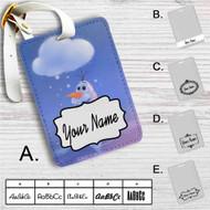 Olaf Disney Frozen Custom Leather Luggage Tag