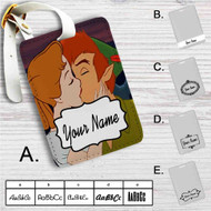 Peter Pan and Wendy Kiss Disney Custom Leather Luggage Tag