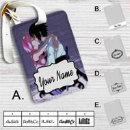 Sakura Haruno Sasuke Uchiha Naruto Shippuden Custom Leather Luggage Tag