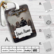 Shadowrun Returns Dragonfall Custom Leather Luggage Tag