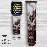 Assassin's Creed Unity Custom Apple Watch Band Leather Strap Wrist Band Replacement 38mm 42mm