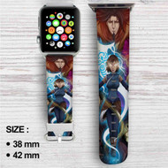 Avatar The Legend of Korra Custom Apple Watch Band Leather Strap Wrist Band Replacement 38mm 42mm