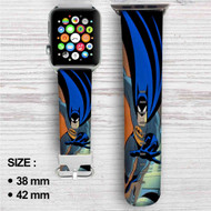 Batman The Animated Series Custom Apple Watch Band Leather Strap Wrist Band Replacement 38mm 42mm