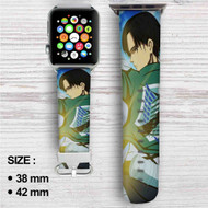 Captain Levi Attack On Titan Custom Apple Watch Band Leather Strap Wrist Band Replacement 38mm 42mm
