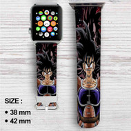 Goku Saiyan Dragon Ball Z Custom Apple Watch Band Leather Strap Wrist Band Replacement 38mm 42mm