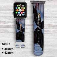 Ichigo Kurosaki Bleach Custom Apple Watch Band Leather Strap Wrist Band Replacement 38mm 42mm