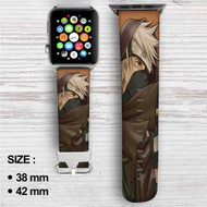 Kakashi Hatake Naruto Shippuuden Custom Apple Watch Band Leather Strap Wrist Band Replacement 38mm 42mm