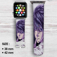L Death Note Custom Apple Watch Band Leather Strap Wrist Band Replacement 38mm 42mm