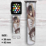 Mikasa Ackerman Attack on Titan Custom Apple Watch Band Leather Strap Wrist Band Replacement 38mm 42mm