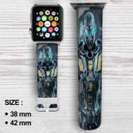 NOVA 3 Freedom Edition Custom Apple Watch Band Leather Strap Wrist Band Replacement 38mm 42mm